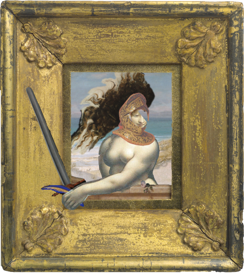 Odalisque in a hat for the shore
