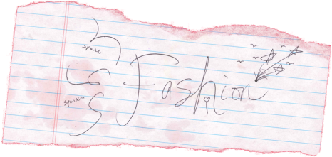 handwriting fashion